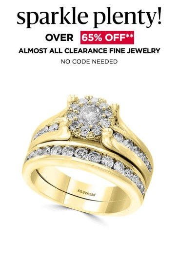 Over 65% Off Almost All Clearance Fine Jewelry