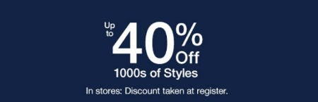 Up to 40% Off 1000s of Styles from Gap