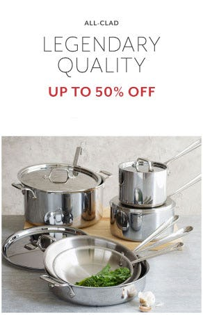 Up to 50% Off All-Clad from Sur La Table