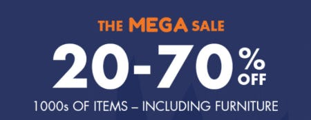 20-70% Off The Mega Sale