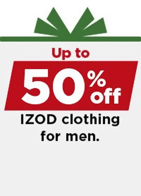 Up to 50% Off IZOD Clothing for Men from Kohl's