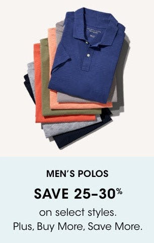 Men's Polos Save 25-30% from Bloomingdale's