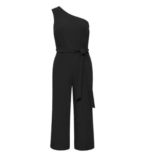 Cropped One-Shoulder Jumpsuit from Banana Republic