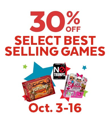 30% off Select Best Selling Games from Go! Calendars Games & Toys