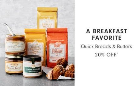 Quick Breads & Butters 20% Off from Williams-Sonoma