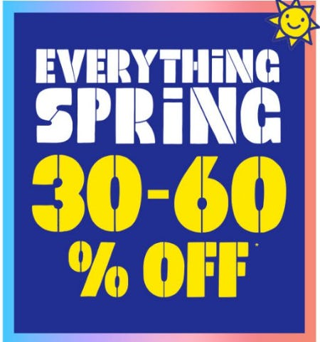 Everything Spring 30-60% Off from The Children's Place