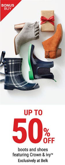 Up to 50% Off Boots & Shoes