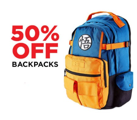 50% Off Backpacks