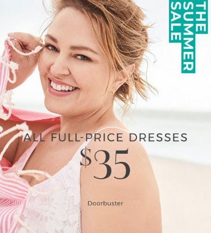 $35 All Full-Price Dresses from Lane Bryant
