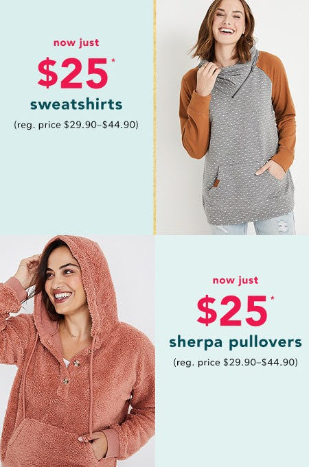 $25 Select Styles from maurices