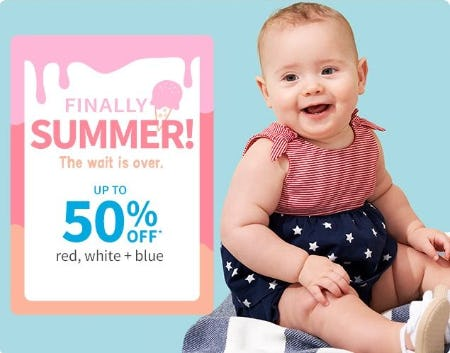 Up to 50% Off Sale from Carter's Oshkosh