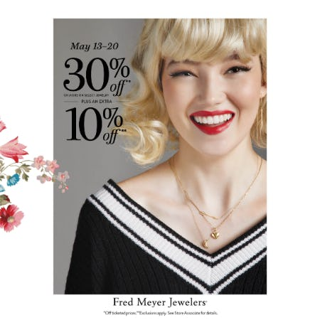 Treat Yourself Sale from Fred Meyer Jewelers