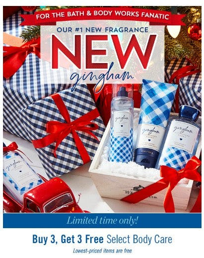 Buy 3, Get 3 Free Select Body Care from Bath & Body Works/White Barn