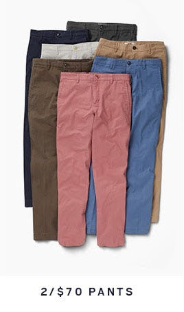 2 for $70 Pants from Men's Wearhouse