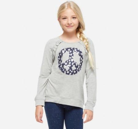 Glitter Ruffle Lightweight Sweatshirt