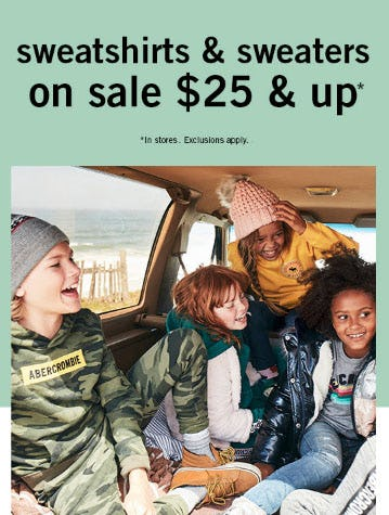 All Hoodies & Sweaters on Sale Starting at $25 from abercrombie