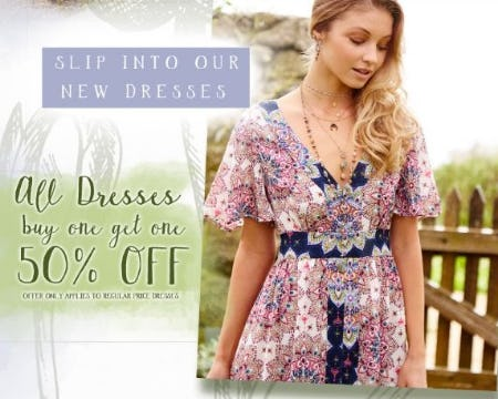BOGO 50% Off All Dresses from Altar'd State