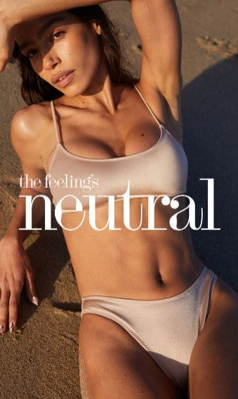 New & Neutral: Spring Swimwear from PacSun