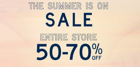 Entire Store 50-70% Off