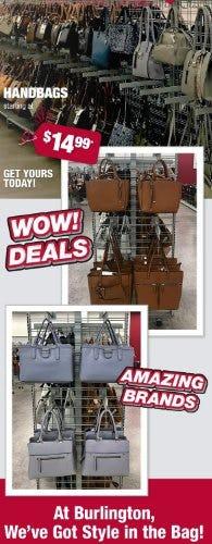 Handbags Starting at $14.99 from Burlington