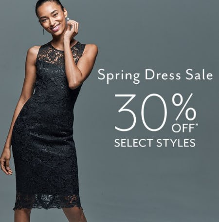 Spring Dress Sale 30% Off from White House Black Market