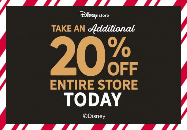 Take an Extra 20% Off the Entire Store TODAY! from Disney Store