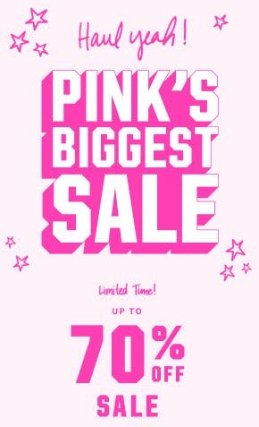 Up to 70% Off Sale from Victoria's Secret