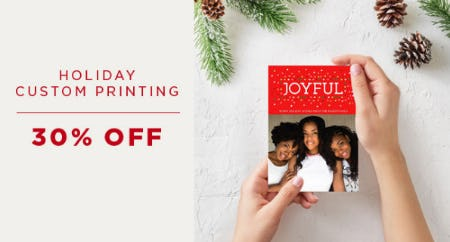 30% Off Holiday Custom Printing from PAPYRUS