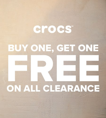 Buy One, Get One FREE Clearance from Crocs