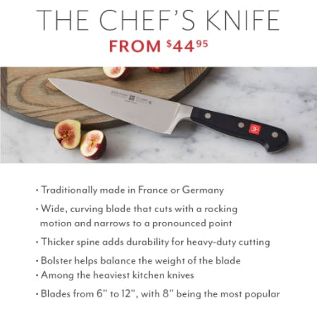 The Chef's Knife From $44.95 from Sur La Table