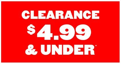 Clearance $4.99 & Under from The Children's Place