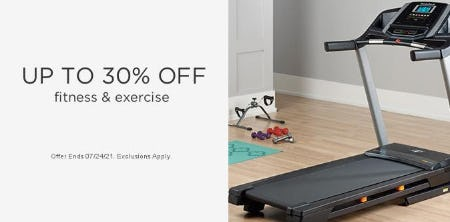 Up to 30% Off Fitness & Exercise