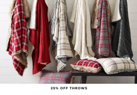 25% Off Throws from Pottery Barn