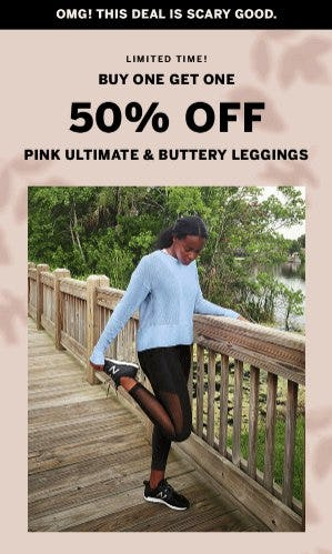Buy One, Get One 50% Off PINK Ultimate and Buttery Leggings from Victoria's Secret
