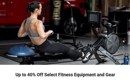 Up to 40% Off Select Fitness Equipment and Gear