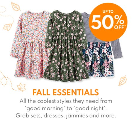 Up to 50% Off Fall Essentials from Carter's