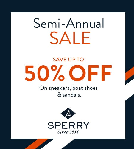 Don't miss the Sperry End Of Season SALE! from Sperry Top-Sider