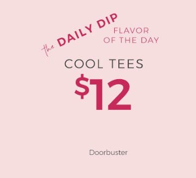 Doorbuster $12 Tees from Lane Bryant