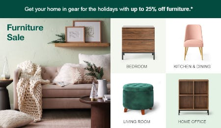 Up to 25% Off Furniture