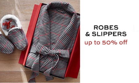 Robes & Slippers Up to 50% Off from Pottery Barn