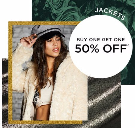 Jackets Buy One, Get One 50% Off