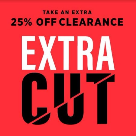 Extra 25% Off Clearance Apparel