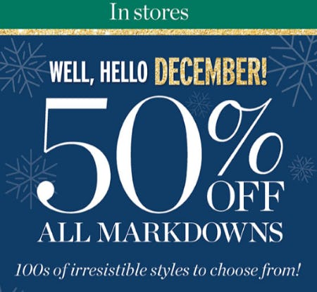 50% Off All Markdowns from Talbots