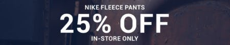 Nike Fleece Pants 25% Off from Hibbett Sports