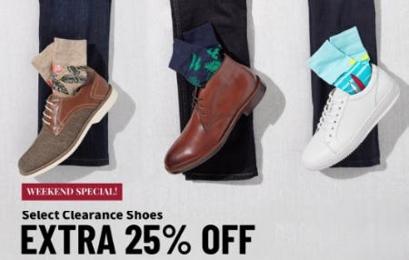 Extra 25% Off Select Clearance Shoes from Jos. A. Bank