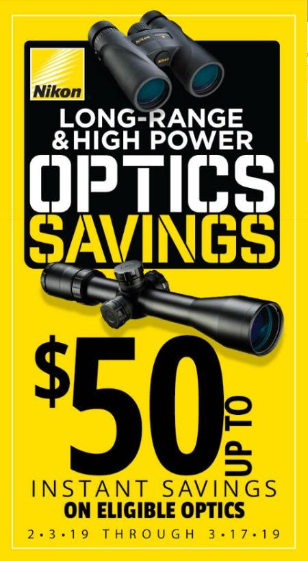 Save Up to $50 on Nikon Optics