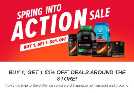 Buy 1, Get 1 50% Off Select Weight Management Support and Proteins from GNC