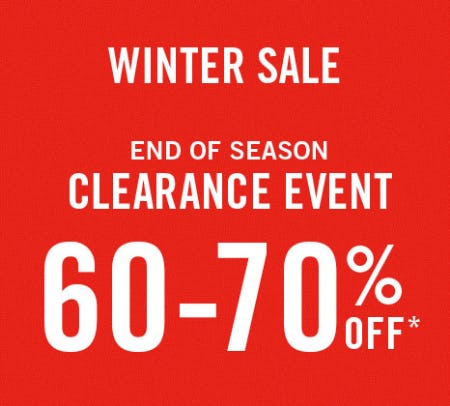 60-70% Off Winter Sale from Abercrombie & Fitch
