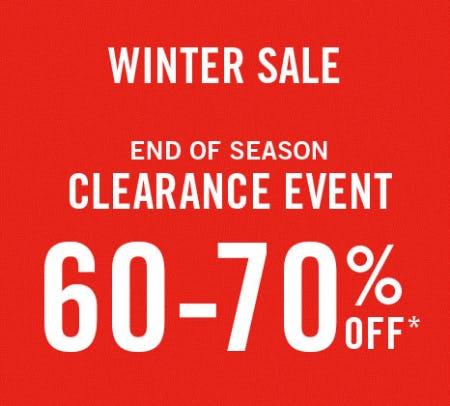 60-70% Off Winter Sale