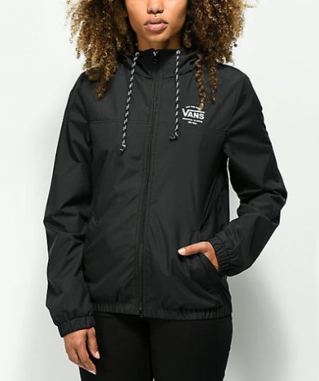 Vans Kastle Black Windbreaker Jacket from Zumiez